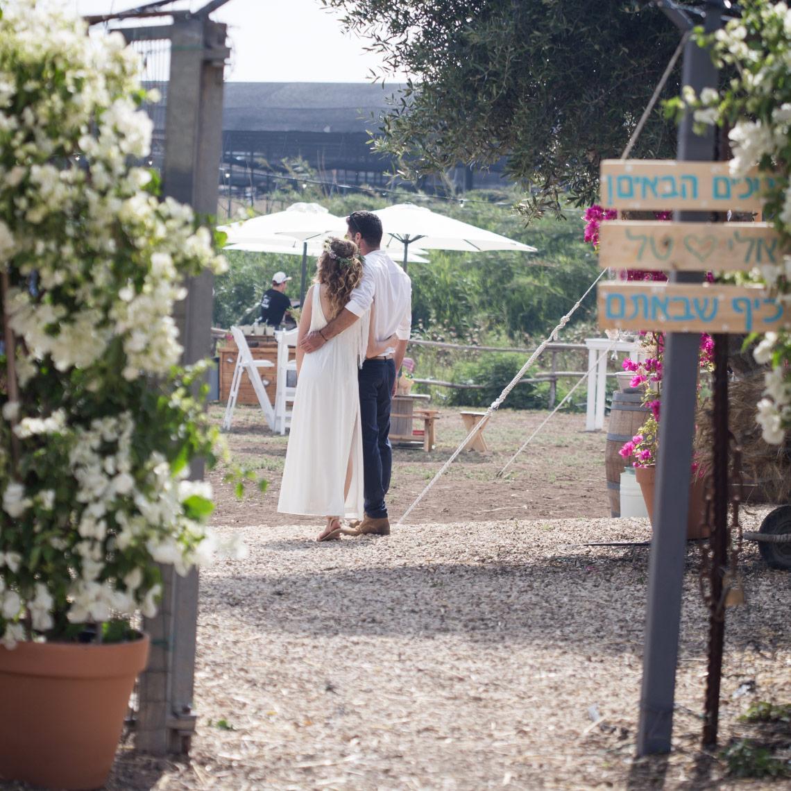 הפקת חתונה בפרדס - מרפסת בטבע