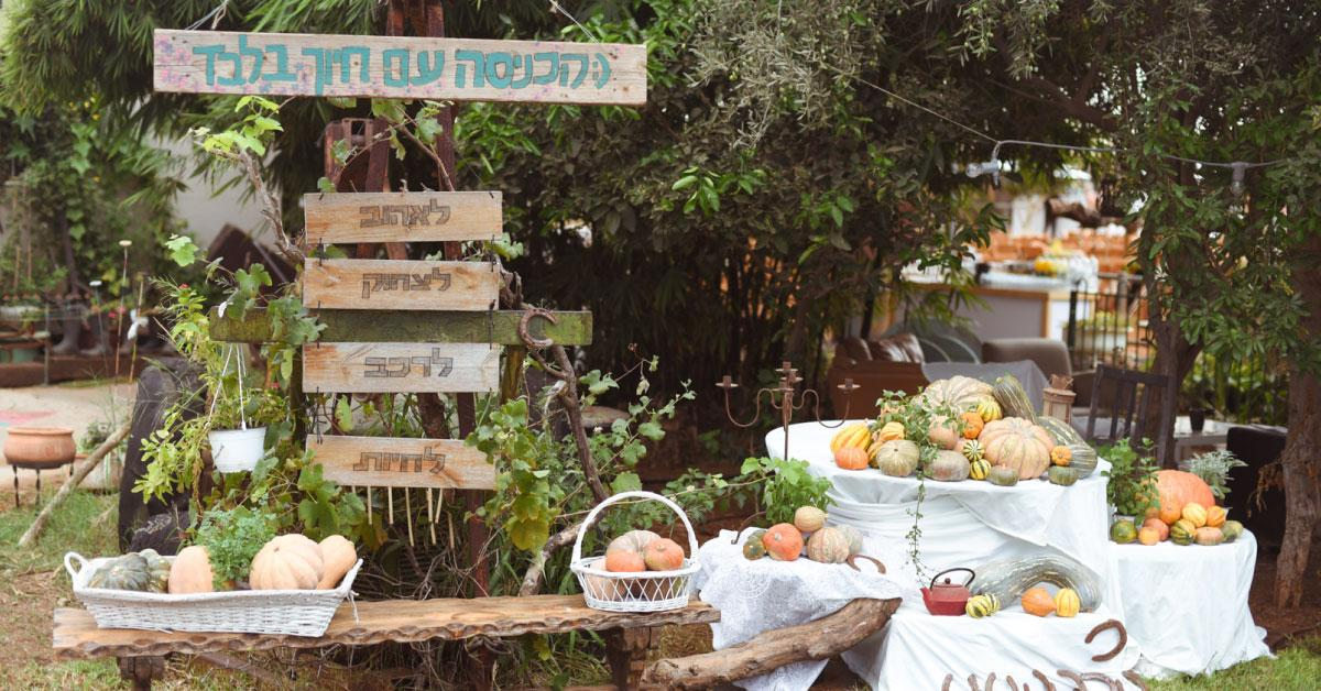 הפקת חתונה בטבע - מרפסת בטבע