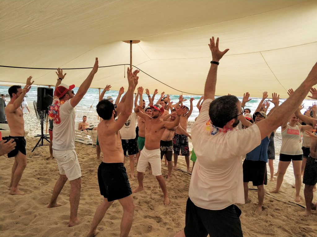אירוע חברה בחוף