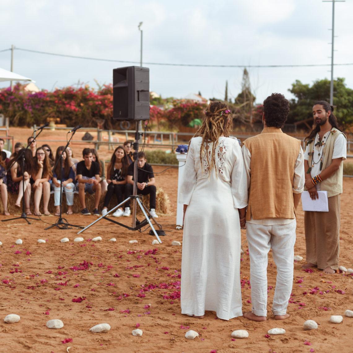 חתונה בלב המדבר - מרפסת בטבע