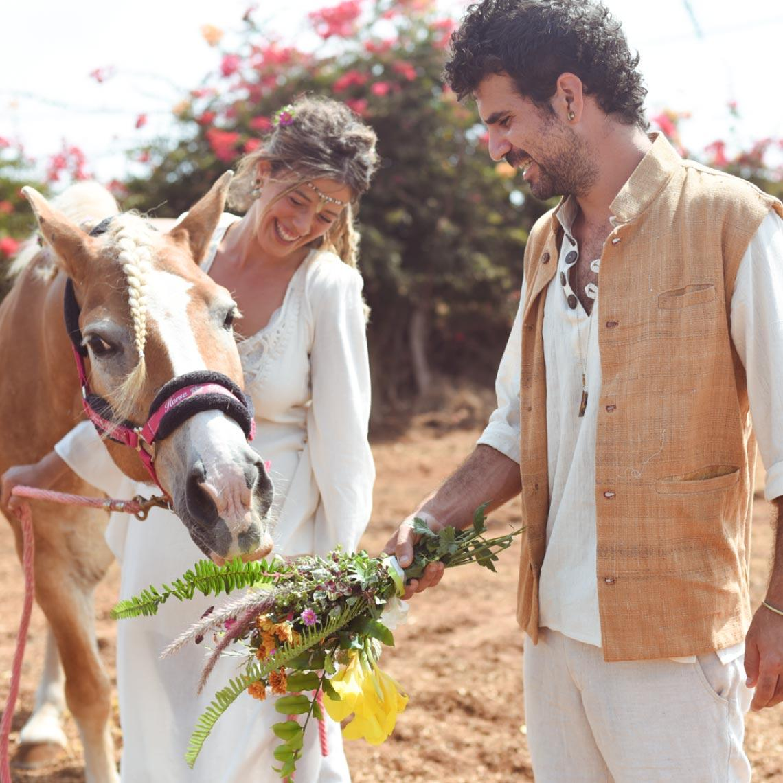 חתונה בחוות סוסים - מרפסת בטבע