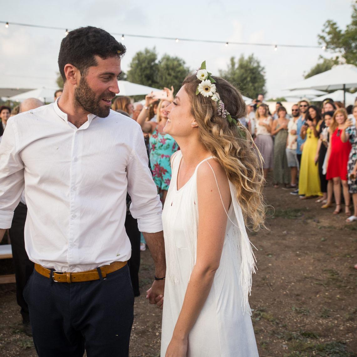 לוקשיין רומנטי לחתונה - מרפסת בטבע