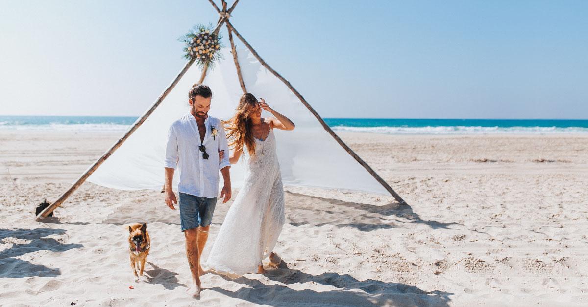 חתונה על החוף - מרפסת בטבע