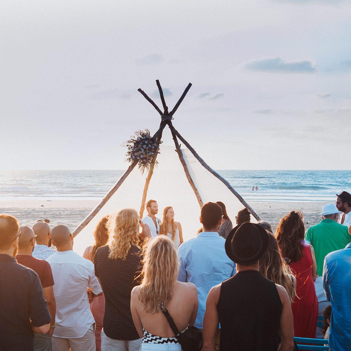 אירוע רומנטי על החוף - מרפסת בטבע