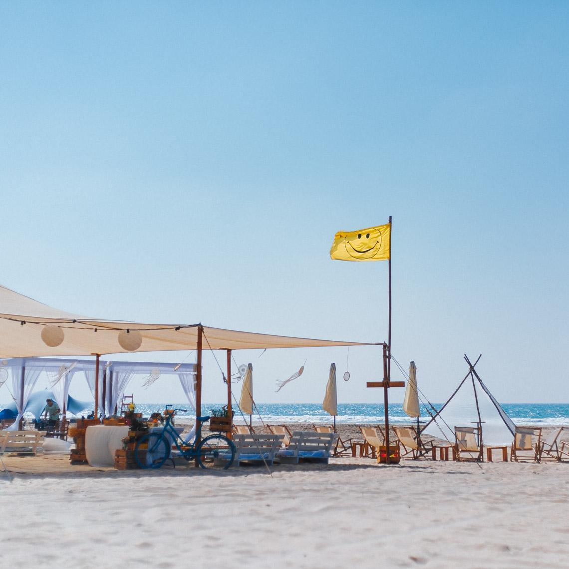 אירוע על החוף - מרפסת בטבע