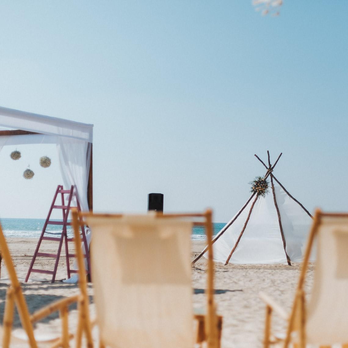 חתונה עם נוף לים - מרפסת בטבע